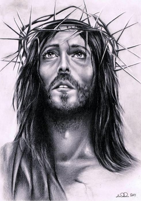 portrait of jesus christ by ragazza on stars portraits 1